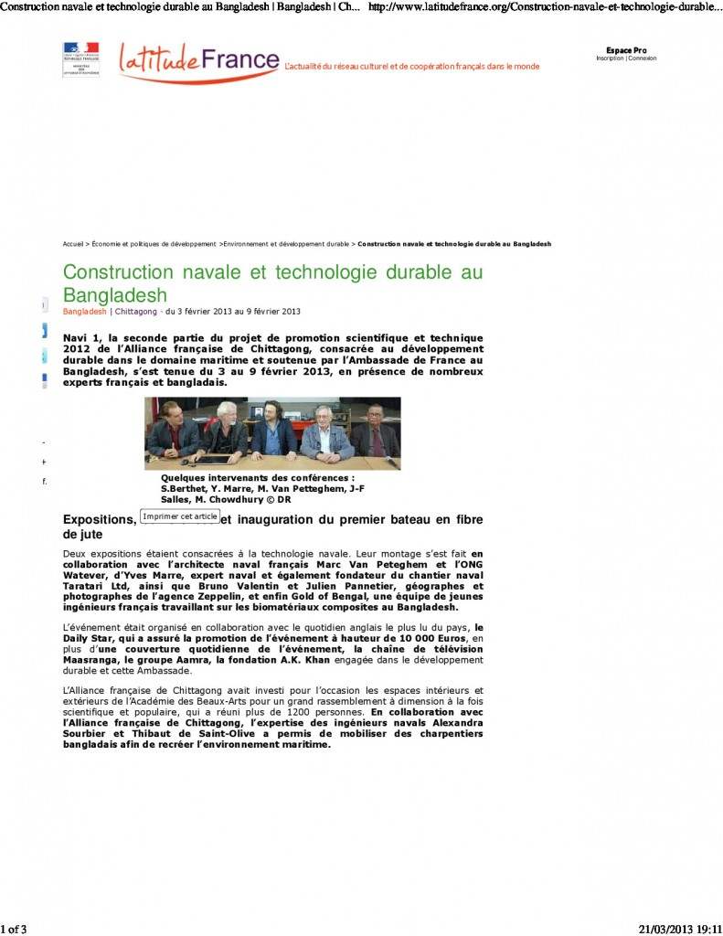 Construction navale et technologie durable au Bangladesh - Chittagong - LatitudeFrance