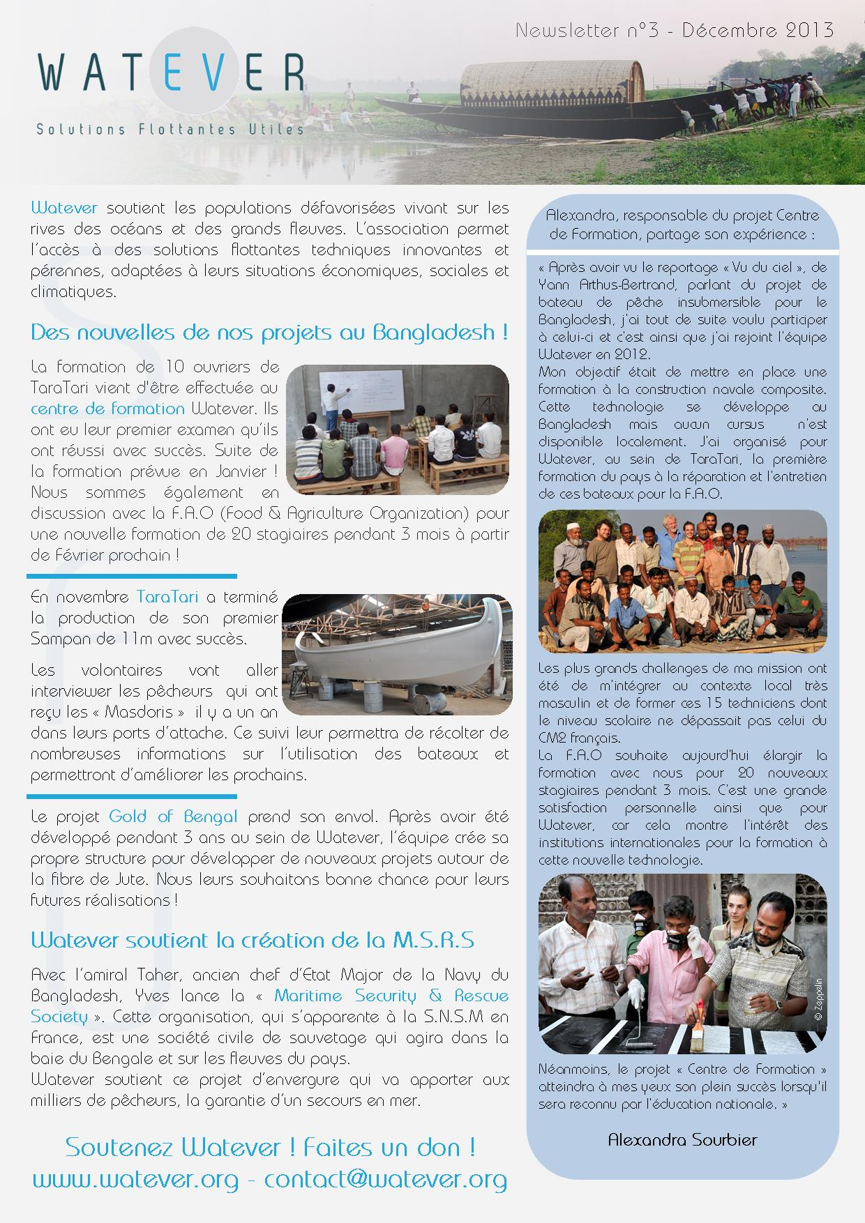 Newsletter Watever n°3 Décembre 2013 Page 1/2
