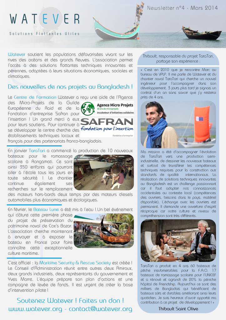 Newsletter Watever n°4 Mars 2014 Page 1