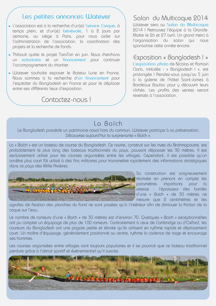 Newsletter Watever n°4 Mars 2014 Page 2